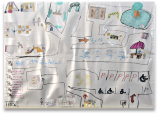 図10、子供たちが紙に描いた公園全体のデザイン